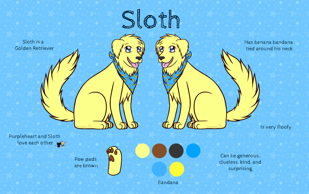 Sloth Reference Sheet 2018 by Mewmewcat12