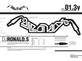 DJ Ronald S logotype by R2works