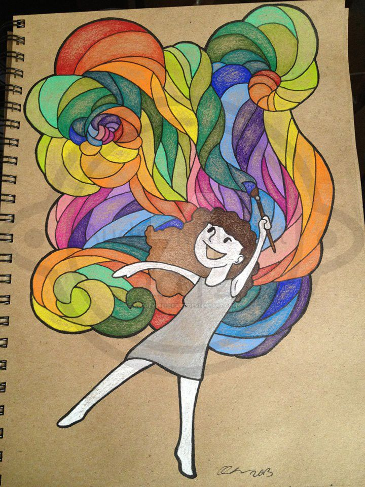 Rainbow+painter by AudreyMillerArt