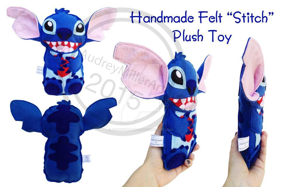 Stitch Plush by AudreyMillerArt