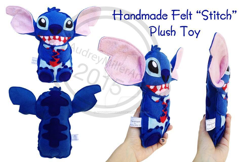 Stitch Plush by AudreyMillerArt