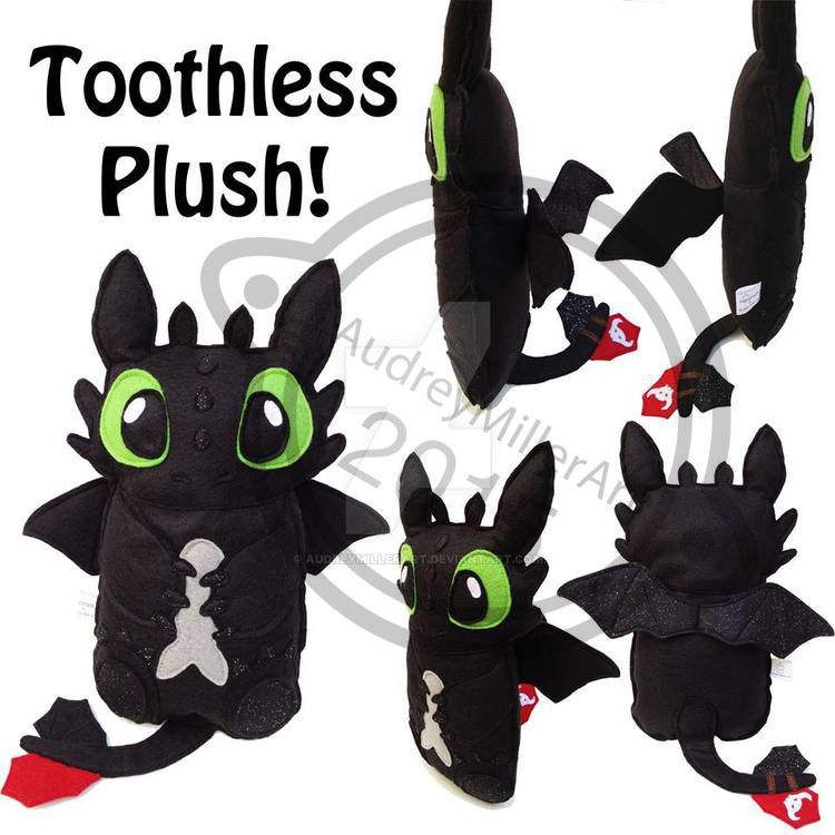 Toothless Plush by AudreyMillerArt