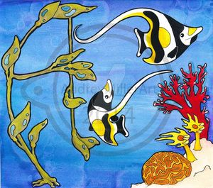 A is for Angelfish by AudreyMillerArt