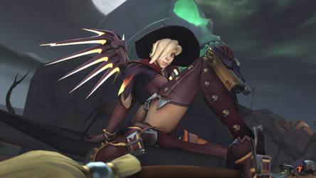 Witch Mercy Pinup 4k (SFM) by Crashsune