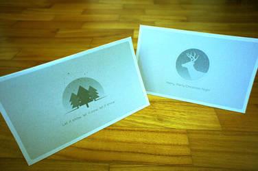 2012 Christmas Card Deer / Christmas Tree