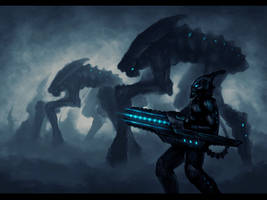 Alien Attack by blackbird-art