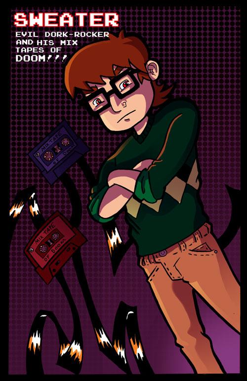 Sweater. The Evil Dork Rocker. by Stupidartpunk