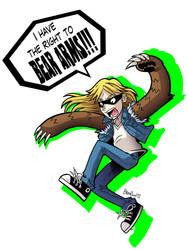 Mick Bear Arms by Stupidartpunk