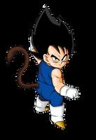 Kid Vegeta Dragon ball Z Render by xAntroGamerx