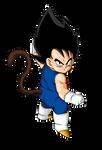 Kid Vegeta Dragon ball Z Render