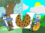 Mordecai and Rigby vs. Finn and Jake