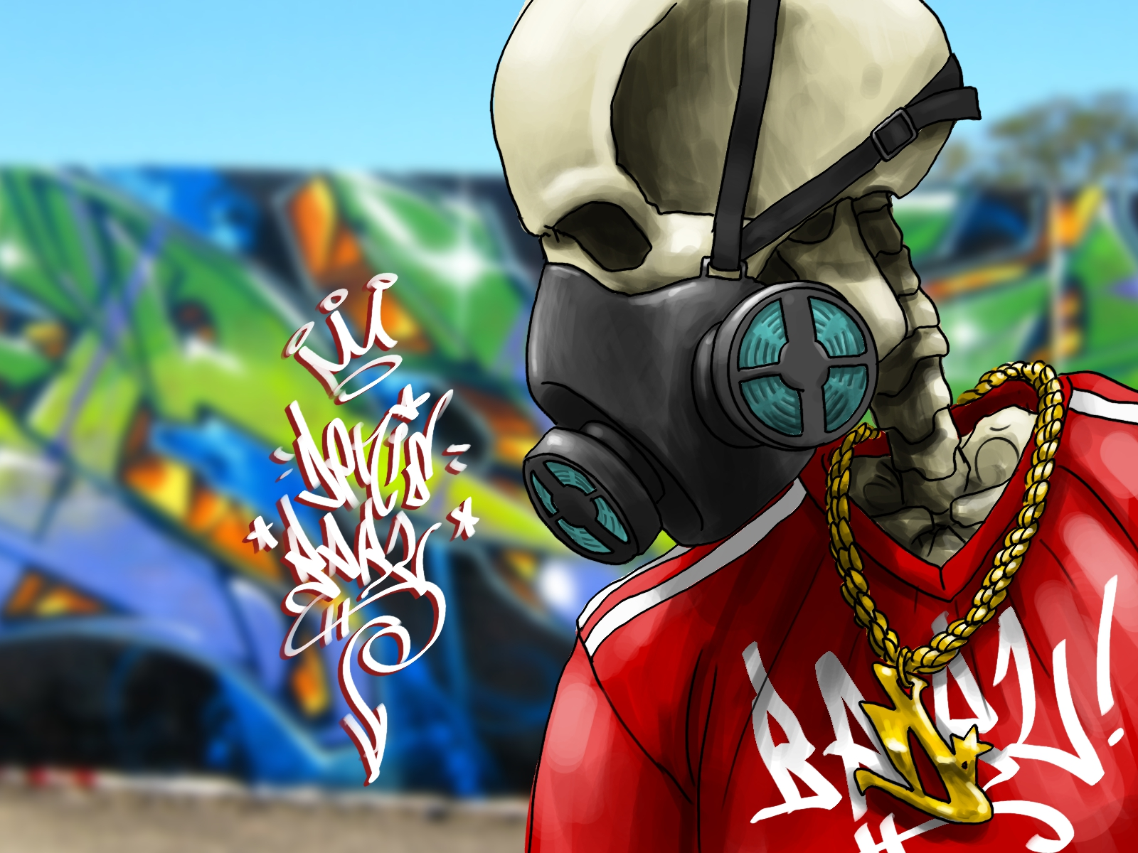 graffiti wallpaper skull hd - photo #11
