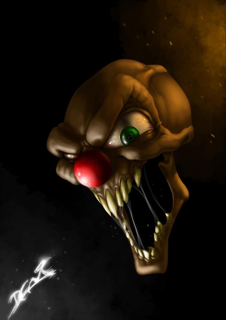 Clown Skull by babuynno on DeviantArt