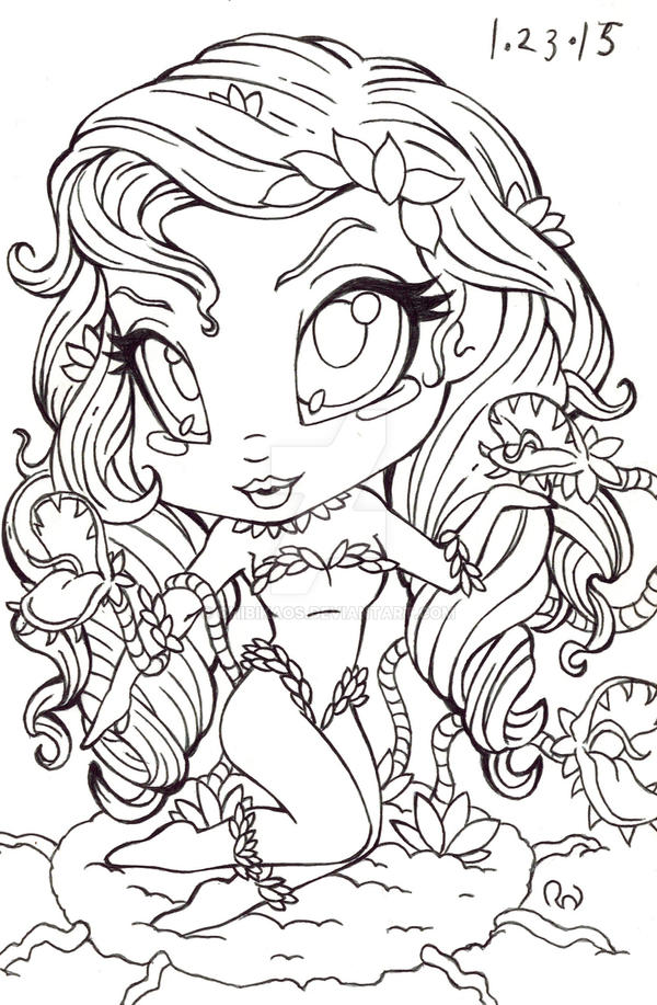 harley quinn poison ivy coloring pages sketch coloring page