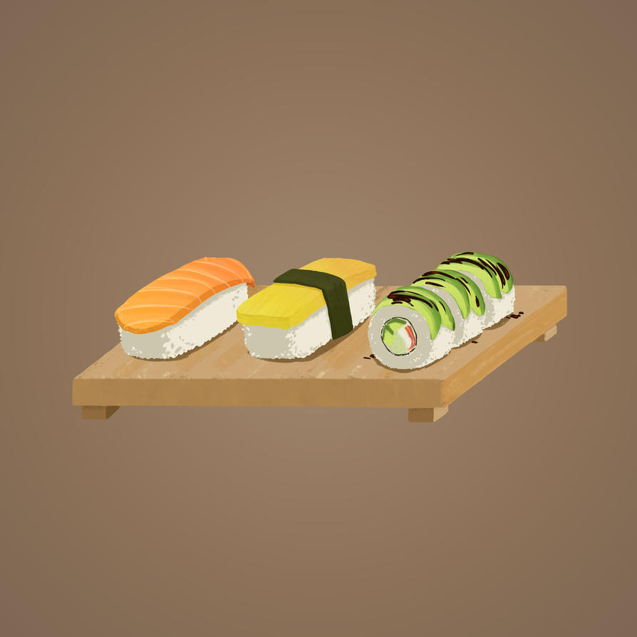 Sushi by Chocolate-Paper