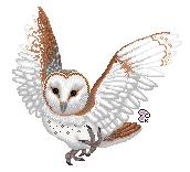 Barn Owl pixel by Keiroko