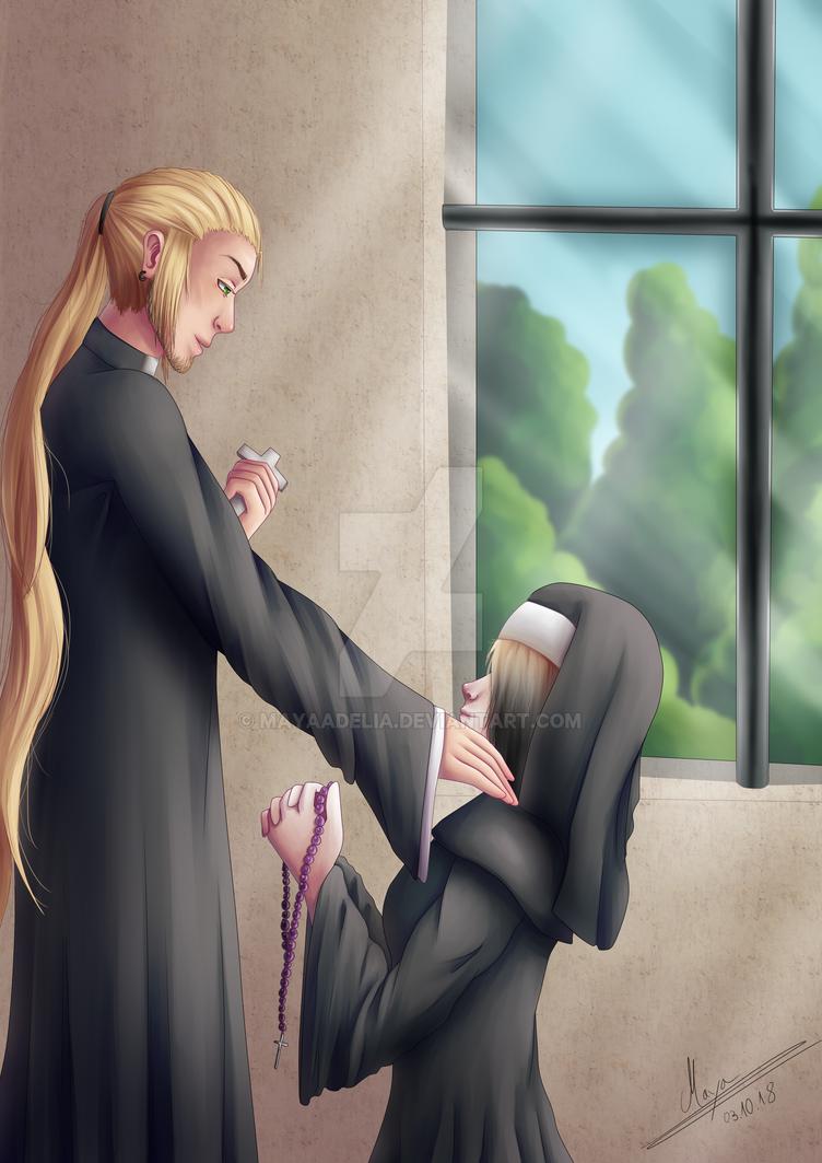 Aisuru and Abel by MayaAdelia