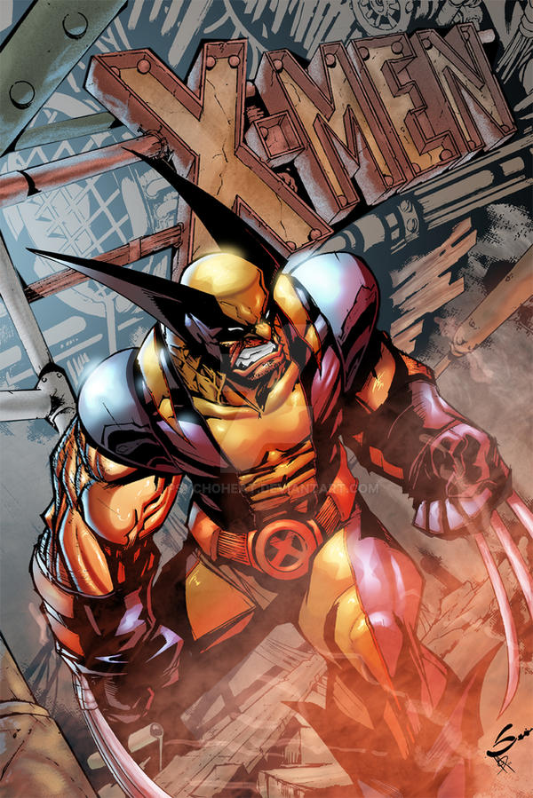 X-Men Cover by psychoheat