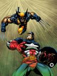 Wolverine Vs. Cap America