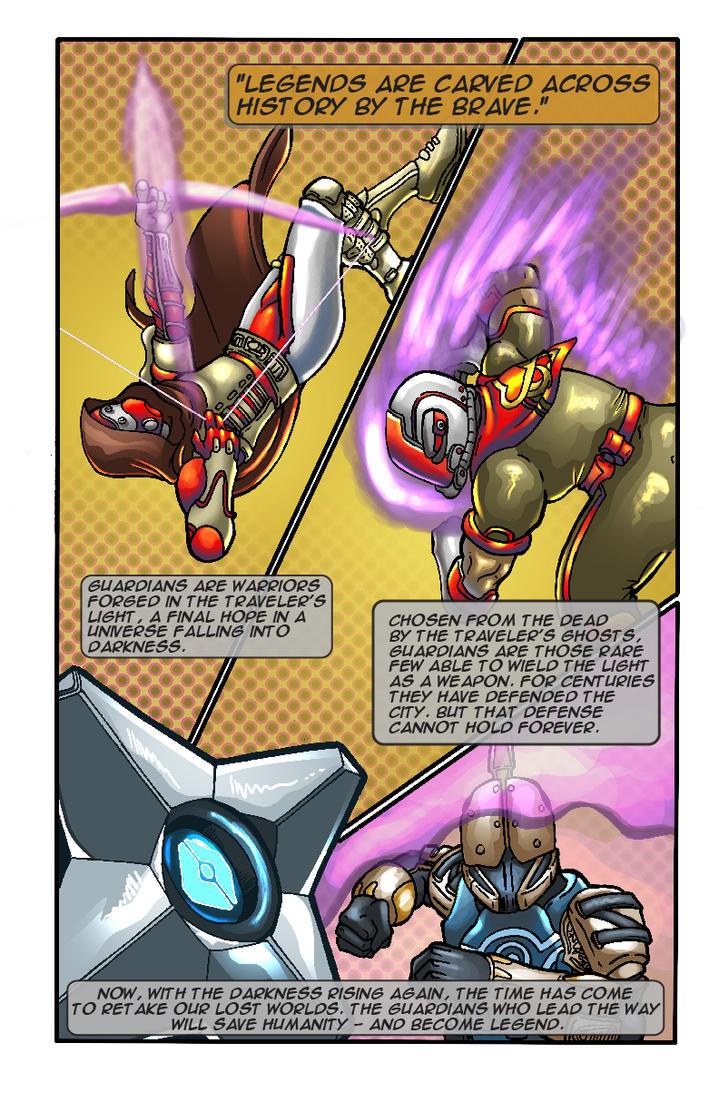 Comic grimoire card: Guardians by psychoheat
