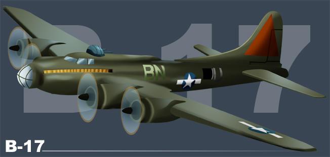 B-17 by psychoheat