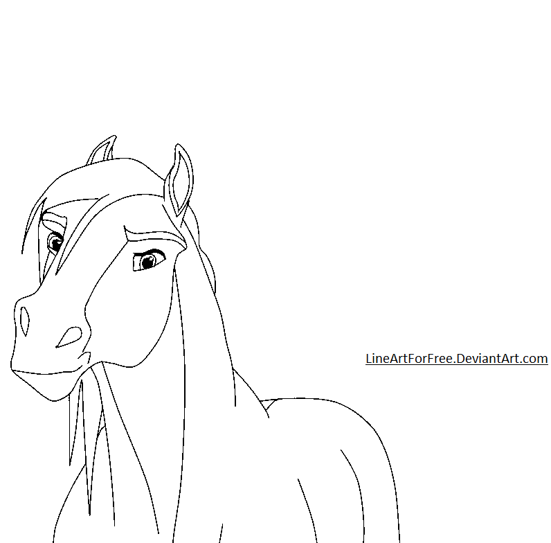 Free Horse LineArt 3 b...