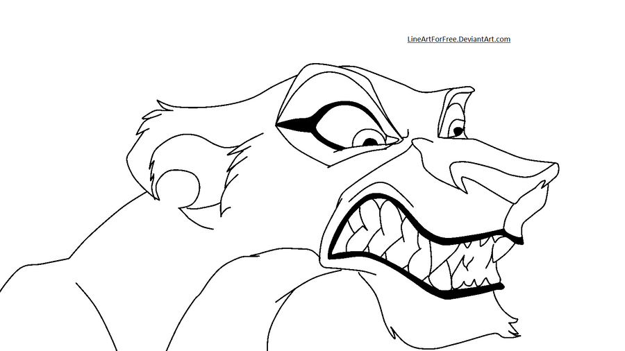 Lion King Base 15 Zira by LineArtForFree on DeviantArt
