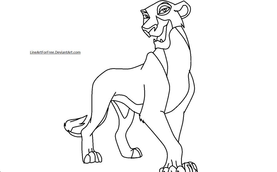Lion King Base 17 Zira by LineArtForFree