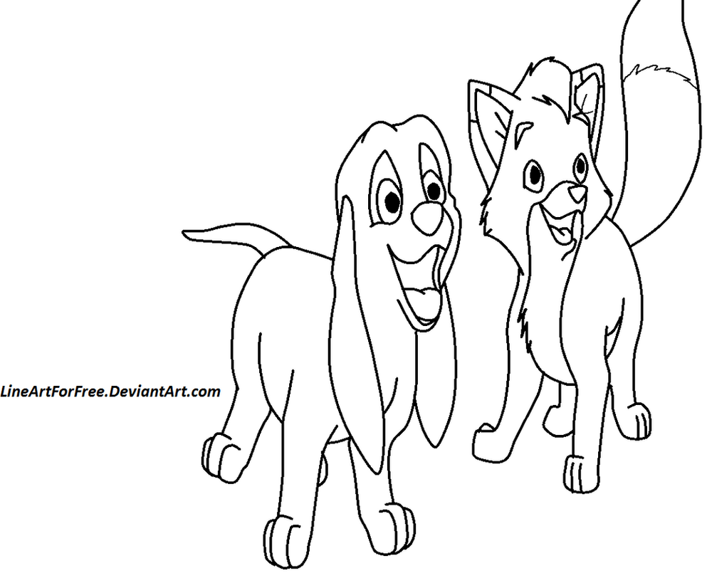 Lps coloring pages fox and the hound