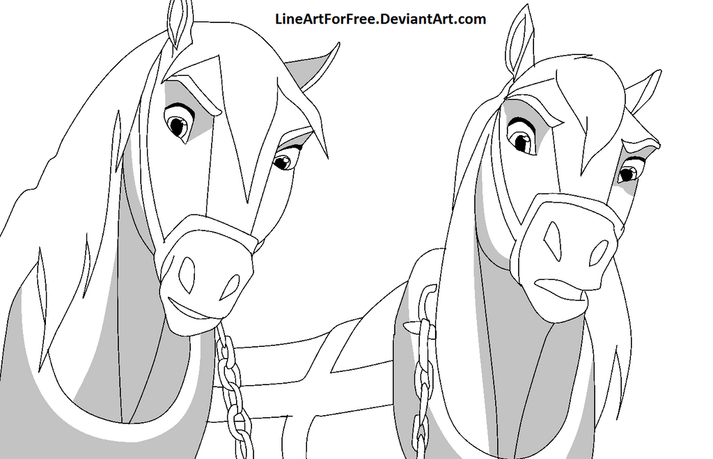 Spirit Horse Base 23 By Lineartforfree On Deviantart