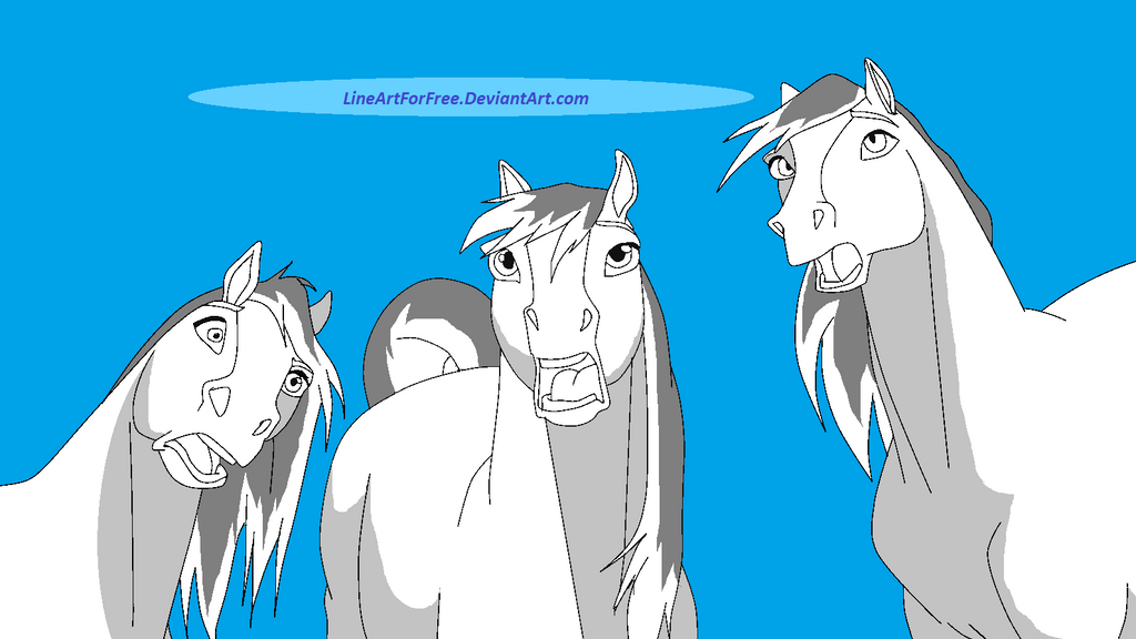 Spirit Horse Base 38 By Lineartforfree On Deviantart