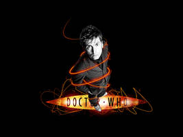 Tenth Doctor Wallpaper by glarbinator