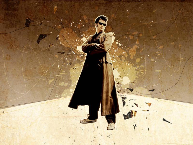 Tenth Doctor Wallpaper 3 by glarbinator