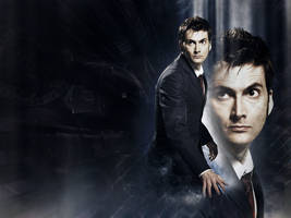 Tenth Doctor Wallpaper 4 by glarbinator