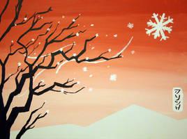 snow blossoms by glarbinator
