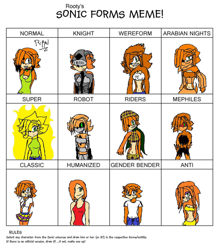 Sonic Forms: Sonic Forms Meme -Rippal- By Rippal On DeviantArt