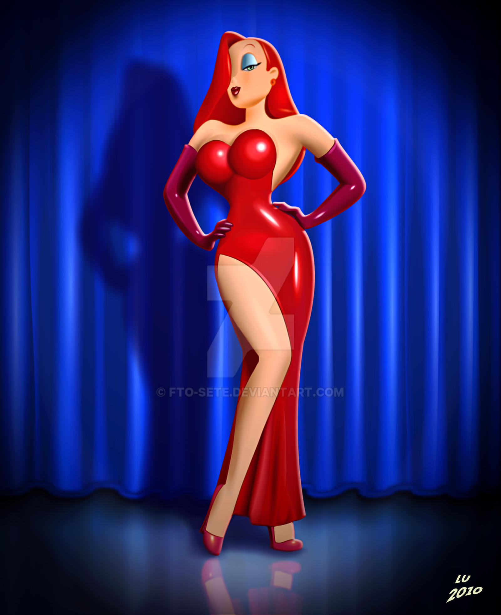 roger rabbit jessica Framed