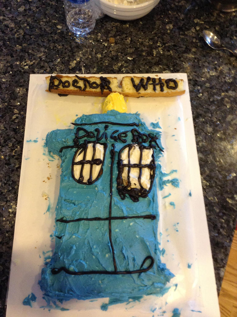 Doctor Who TARDIS cake by BTRcrazie313 on DeviantArt