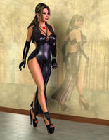 Alexis - Sexy in Black by 007Fanatic