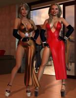 Maya and Jennifer - Glamour Goddesses by 007Fanatic