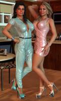 Zoe and Jennifer - Domestic Bliss - Pinup by 007Fanatic