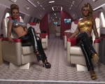 Jennifer and Heather - Rich Girls Private Jet 2021