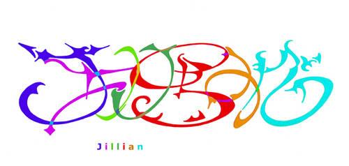 NeoName: Jillian - letters by AeWolf