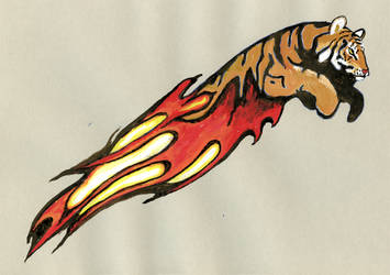 Tiger Flame by Marlis Ulrich by AeWolf