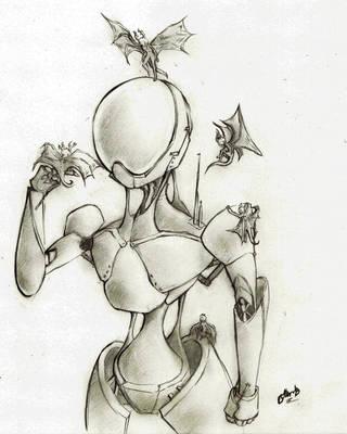 Spunky Robot is Making Friends by Jakuryusei