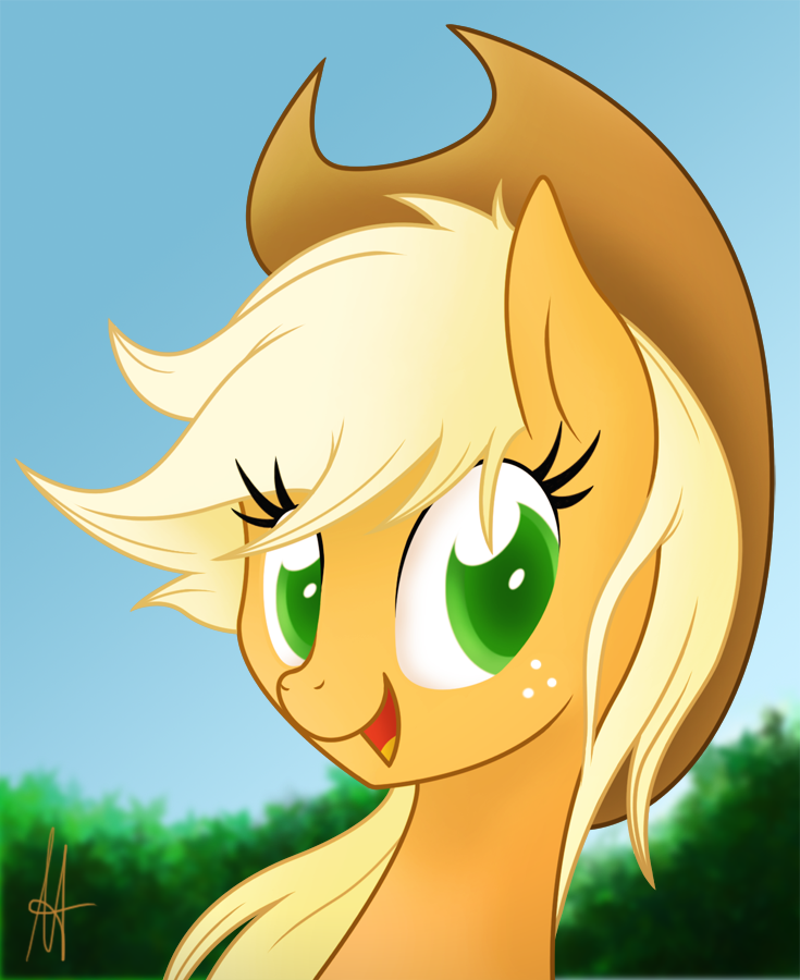 [MLP] Applejack Portrait by Ardas91