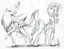 [Sketch] The Wolf and the Pony