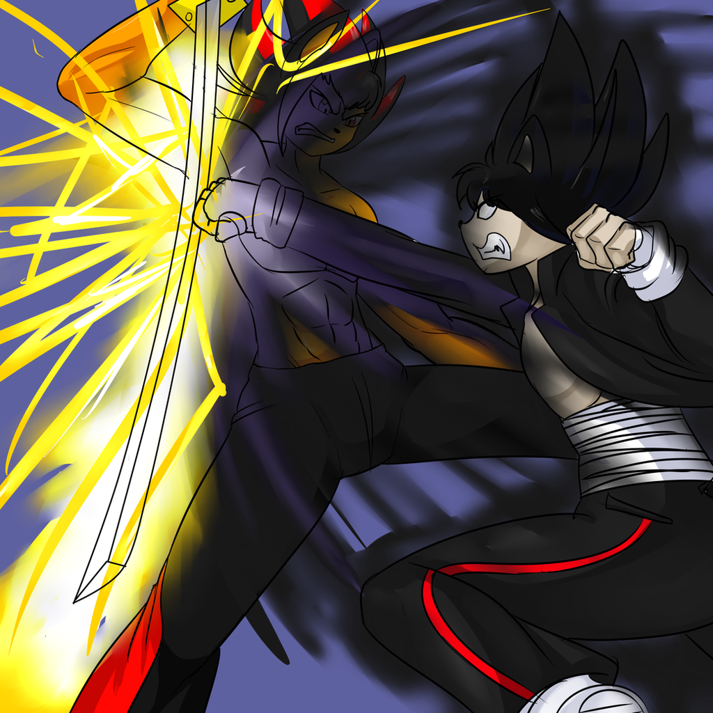Shadow vs dark sonic by denizen14 on deviantart - Jeux de sonic vs shadow ...