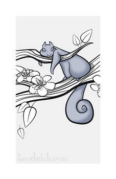 Sleepy Forest Critter - Squirrel