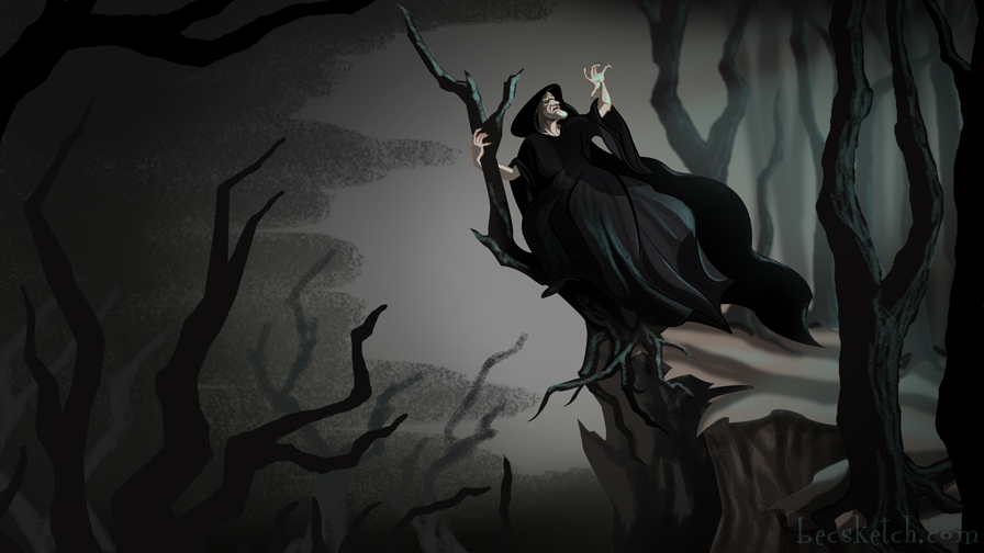 Once Upon A Time - The Hag's Flight by becsketch